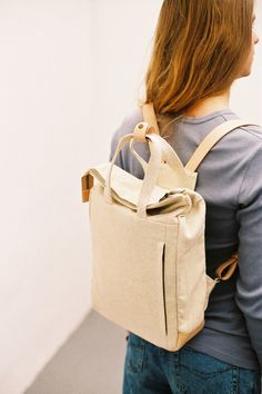 Handle Backpack Natural