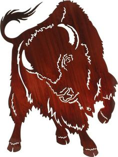 "Metal Décor Accent ~ 30"" No Contest (Buffalo) 