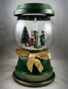 Terra Cotta Christmas Globe
