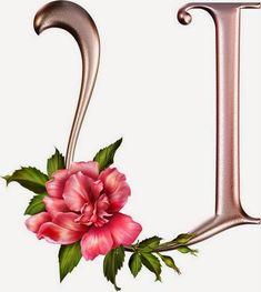 Alfabeto rosas lindo! Abc letras cor de rosa com flores com rosas! - Alfabetos Lindos