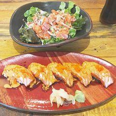 Salmon Aburi  Salmon Tataki #salmon #salmonaburi #aburisushi #aburi #sushi #salmontataki #salmonspicy #spicysalmon #spicysalmonsalad #spicysalad #japanesefood #fusionfood #yummy #delicious #oishi #aroii #instafood #enjoyeating by mlle_numsomm