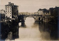 Roma Sparita - Isola Tiberina World History, Tower Bridge, Memories, Antique, Places, Travel, Beauty, Rome, Italia