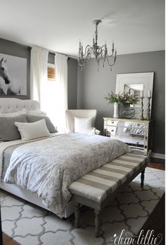 A bright shade of gray can enlighten your feeling whenever you enter your gray bedroom. While the dark tone of gray can make your sleeps peaceful. We have 30 gray bedroom ideas that . Read Elegant Gray Bedroom Ideas 2020 (For Calming Bedroom) Home Bedroom, Bedroom Furniture, Bedroom Ideas, Peaceful Bedroom, Master Bedrooms, White Bedrooms, Design Bedroom, Master Bedroom Grey, Master Master