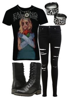 """Falling In Reverse"" by killjoy-sam ❤ liked on Polyvore featuring Miss Selfridge and Steve Madden"