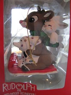 Rudolph the Red Nosed Reindeer Christmas Ornament Rudolph & Friends Ride a Sled by Rudolph the Red Nosed Reindeer