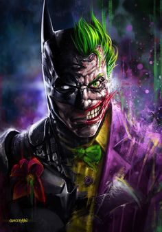 Batman & The Joker Created by Kaan Sadece || Tumblr