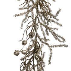 Ghirlanda de Craciun Pine Tins  Garland  130 cm -Argintiu/Crem Tins, Garland, Dandelion, Flowers, Plants, Tin Cans, Dandelions, Plant, Taraxacum Officinale