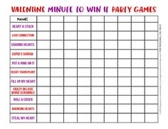 Minute to Win It Valentine Games will be the hit of your Valentine's Day party! Valentine Minute to Win It Games for kids & adults - everyone can play!