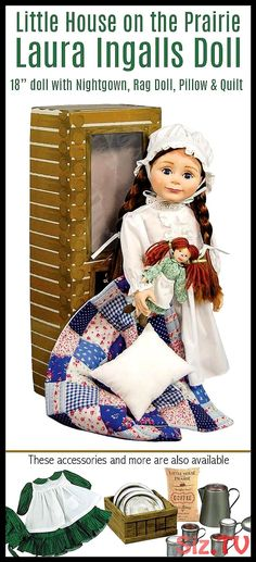 I love this little doll A new generation can learn about Laura Ingalls and Little house on the Prairie and enjoy hours of imaginative play with the d… – Preteen Clothing Preteen Bedroom, Resurrection Day, Laura Ingalls, Easter Traditions, Little Doll, Imaginative Play, Doll Accessories, Tween, Best Gifts