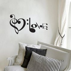 """I found 'Music Notes Spelling Love Wall Decal Vinyl Art Sticker 10.5""""h X 20""""w' on Wish, check it out!"""
