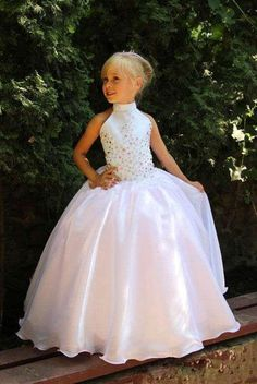 First Communion Dresses For Girl Bridesmaid,Wedding Party Kids Evening Gowns,White Ivory Sequin Puffy Flower Girl Dresses