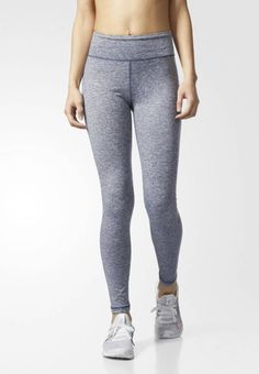 adidas Performance. PERFORMER  - Tights - blue grey. Outer fabric material:85% polyester, 15% spandex. Hem:elasticated. Pattern:marl. Care instructions:do not tumble dry,Do not iron,Machine wash on gentle cycle. Sport:Training. Details:elasticated wa...