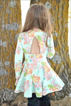 Paisley's Open Back Peplum Top & Dress. PDF by SimpleLifePatternCo