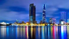 Saigon city at nigh Top Place, Modern City, Beautiful Places In The World, Night City, Ho Chi Minh City, Da Nang, Travel And Tourism, Vietnam Travel, Willis Tower