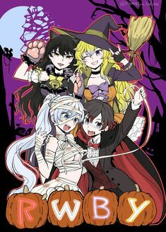"soeiladon: ""Team Rwby Halloween Source: https://twitter.com/AYANEro_taicho/status/792677439671406592 """