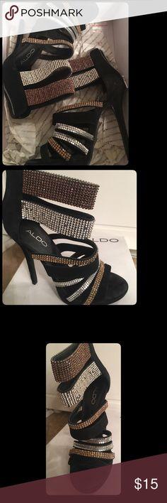 ALDO SHOES  Style : AMISTOSO (missing rhinestones) Aldo Shoes Heels