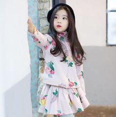 Cute Asian Babies, Korean Babies, Asian Kids, Cute Babies, Cute Little Baby Girl, Beautiful Little Girls, Stylish Baby Girls, Stylish Kids, Outfits Niños