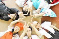 Ao no Exorcist cosplay group <3 Blue Exorcist.
