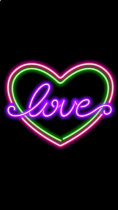 Neon Backgrounds, Wallpaper Backgrounds, Wallpapers, Animated Love Images, Love Wallpaper, Hearts, Neon Signs, Flowers, Board