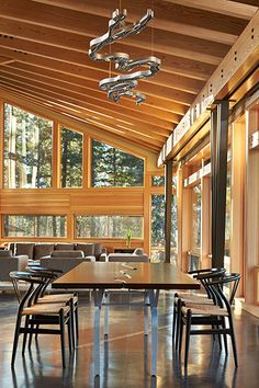 Creative Dining Table In Wooden House
