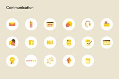 Icon System for Swiss E-Commerce Target Customer, Ecommerce, Communication, Icons, Chain, Website, Symbols, Necklaces, E Commerce