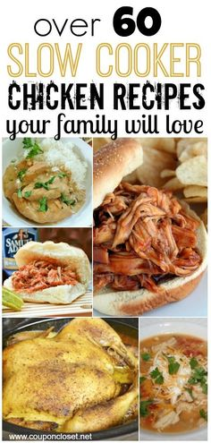 Here are Over 60 Slow Cooker Chicken Recipes Your Family Will Love! -