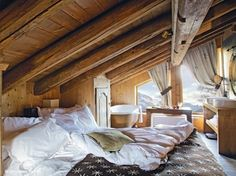 Put wood everywhere in the attic to make this AMAZIG look. Add carpet and beautiful lights. Attic is a MUST have for me.