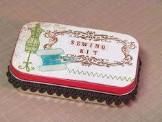SP Stamps Blog: Vintage Sewing Kit - Altered Altoid Tin
