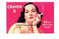 R161 SINGLE swap playing cards MINT COND cigarettes smoking CRAVEN ART DECO LADY