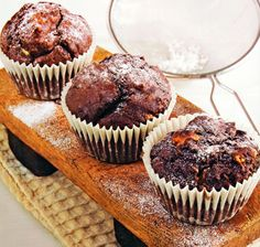 Triple Chocolate Muffins Recipe - http://www.allbakingrecipes.com/recipes/triple-chocolate-muffins/