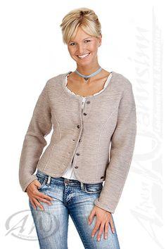 hier online bestellen: Spieth & Wensky  Strickjacke - Damen Trachten Strickjacke - BOZEN - natur Fesche Damen-Strickjacke passend zu jedem Dirndl oder auch zur Jeans! Sie ist aus leichter, feiner Woll