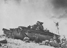 "Marine Corps LVT(A)1 named ""The Bloody Trail"" Peleliu 1944"