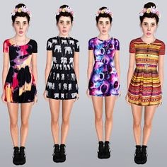 My Sims 3 Blog: Comfortable Slag Dresses by Ilikeyourfacesims
