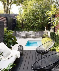 "2,532 Likes, 32 Comments - Style at Home (@styleathome) on Instagram: ""This backyard has us dreaming of the warm weather to come. The petite pool is perfect for a quick…"""