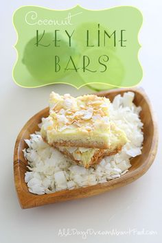 Low Carb Key Lime Coconut Bars and a Keurig Giveaway!