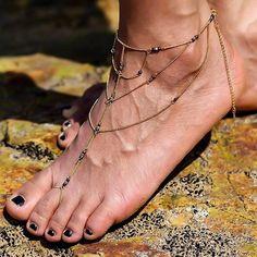 Gypset Gold Beach Barefoot Sandals