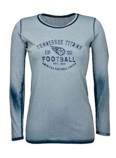 Tennessee Titans Ladies Seam Wash Titans Tee