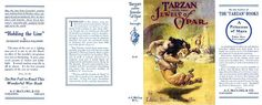 The original McClurg dust jacket for Tarzan and the Jewels of Opar features J. Allen St. John artwork (always one of the best ERB illustrators) and an ad for A Princess of Mars.