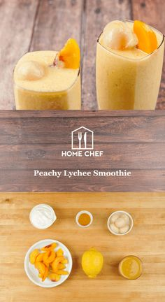 Peachy Lychee Smoothie With Lemon, Pineapple Juice, and Honey Tea Smoothies, Smoothie Blender, Raspberry Smoothie, Breakfast Smoothies, Smoothie Drinks, Heathy Drinks, Yummy Drinks, Recipe For Teens, Ina Garten