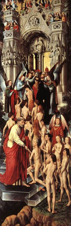 MEMLINC Hans: Flemish school (1435-1494) - The Last Judgement (left panel) the blessed