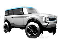 Ford Bronco, New Bronco, Bronco Sports, Car Design Sketch, Car Sketch, Suv Cars, Car Ford, Ford Motor Company, Transportation Design