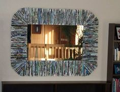 DIY Recycle Magazine Mirror Frame
