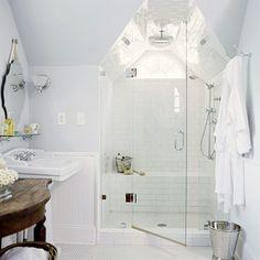 Blue Bath: View One - tile