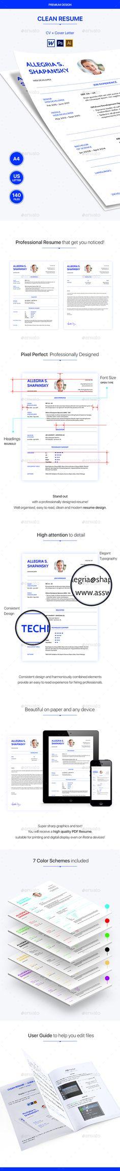 #Resume CV - Resumes Stationery Download here: https://graphicriver.net/item/resume-cv/19627196?ref=alena994