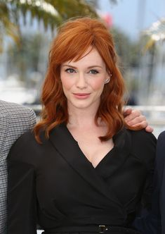 Christina Hendricks Lookbook: Christina Hendricks wearing Medium Wavy Cut with Bangs (14 of 40). Christina Hendricks attended the 'Lost River' photocall wearing tousled waves and side-swept bangs.