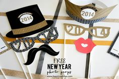 Printables Photo Props | How To Make A Photo Booth For Your New Year's Eve Party