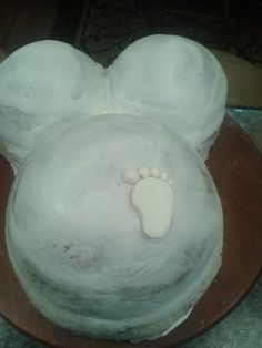 How to Make a Pregnant Belly Cake with Footprint Tutorial on Cake Central