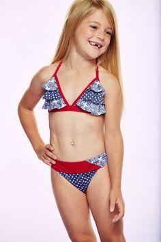 Sweet Lola Ruffle Halter Bikini & Sarong Set (Toddler, Little Girls, & Big Girls)