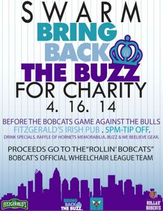 Bring back the buzz swarm charity!! Come support our event!!!!