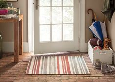 Bottom line: you're never going to find a rug as great as this. Dip your toes into the world of DIY rug design with our Laughing Lines stencil for some stylish stripes. Let's start your first custom rug project!